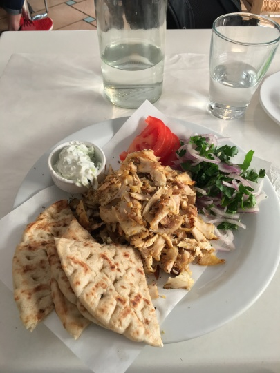 Gyros are one of the best Greek foods I tried.
